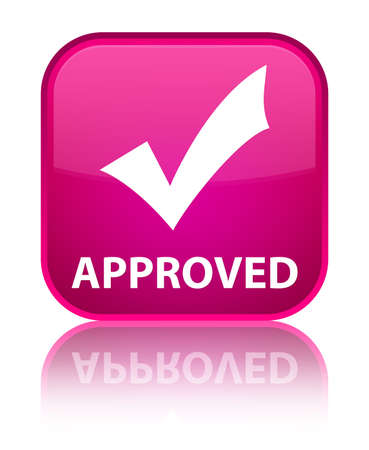 validate: Approved (validate icon) pink square button