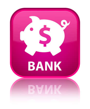 economical: Bank (piggy box dollar sign) pink square button