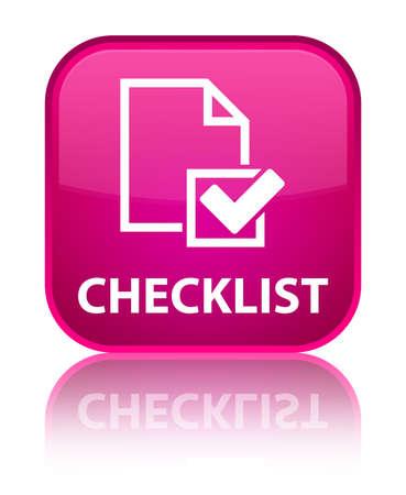 valid: Checklist pink square button