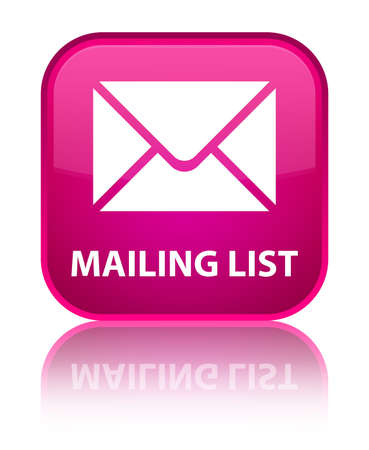 mailing: Mailing list pink square button