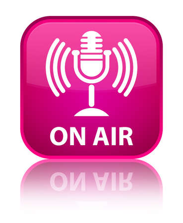 talk show: On air (mic icon) pink square button
