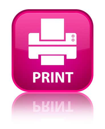 multifunction printer: Print (printer icon) pink square button Stock Photo