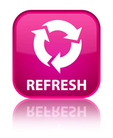 Refresh pink square button photo