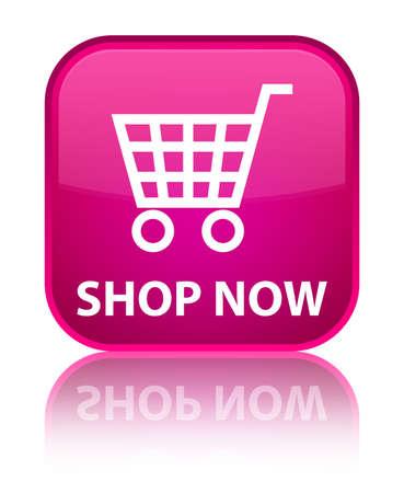 Shop now pink square button