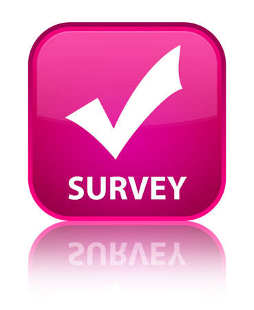 validate: Survey (validate icon) pink square button