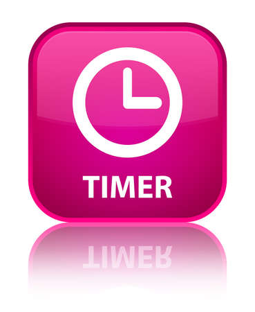timer: Timer pink square button