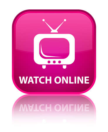 tv station: Watch online pink square button