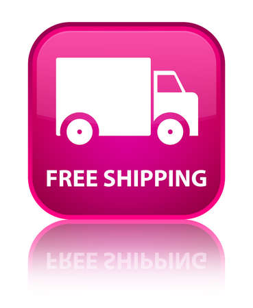 handling: Free shipping pink square button