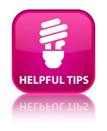 hints: Helpful tips (bulb icon) pink square button