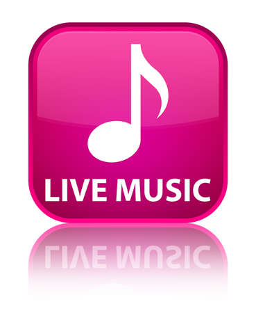 live music: Live music pink square button