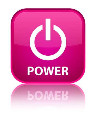 shutdown shut down: Power pink square button