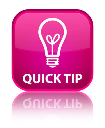 quick: Quick tip (bulb icon) pink square button