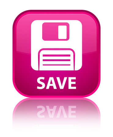 Floppy disk: Save (floppy disk icon) pink square button