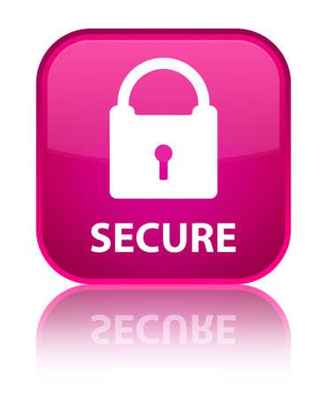 key hole shape: Secure (padlock icon) pink square button