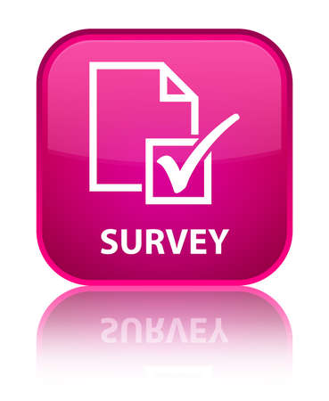 square button: Survey pink square button