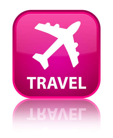 airway: Travel (plane icon) pink square button