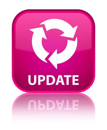 refresh icon: Update (refresh icon) pink square button