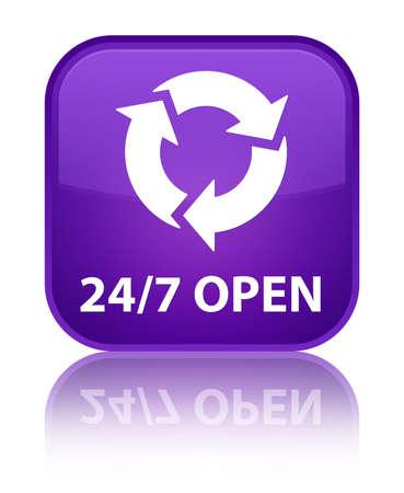 refresh icon: 247 open (refresh icon) purple square button