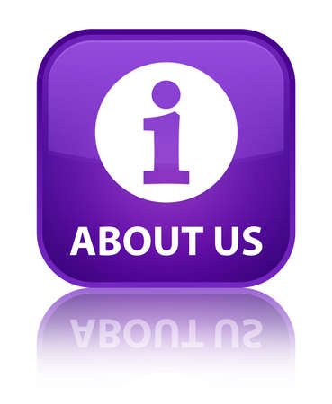 'about us': About us purple square button
