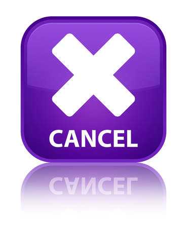 cancel: Cancel purple square button