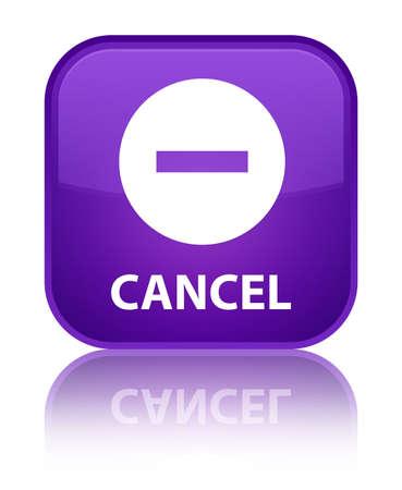 terminate: Cancel purple square button