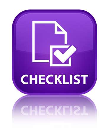 Checklist purple square button photo
