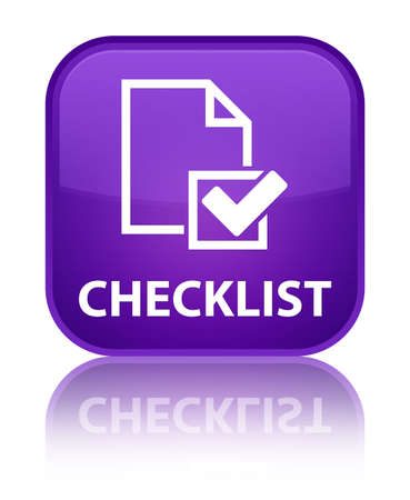 Checklist purple square button photo