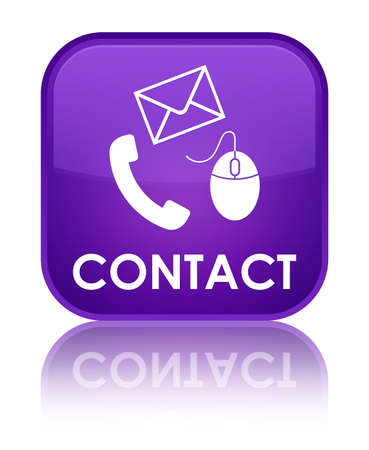 flysheet: Contact (phone, email and mouse icon) purple square button