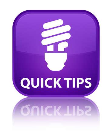 hints: Quick tips (bulb icon) purple square button