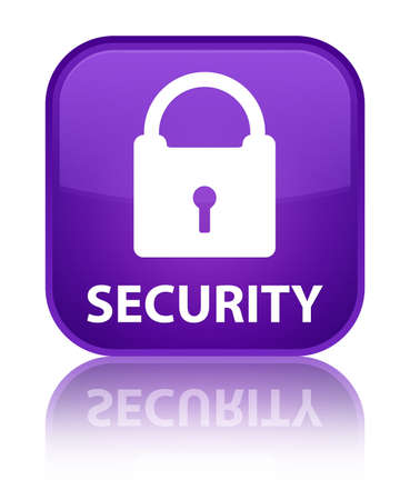 insecure: Security (padlock icon) purple square button