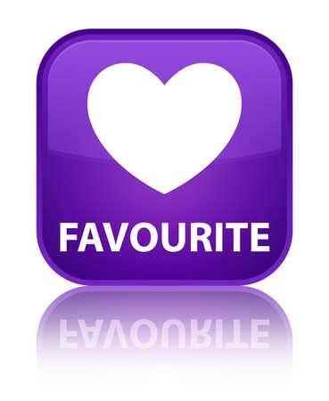 favourite: Favourite (heart icon) purple square button