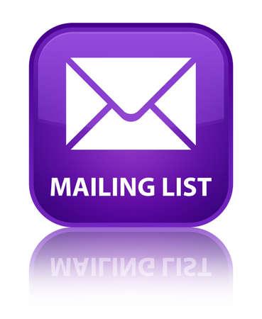 mailing: Mailing list purple square button