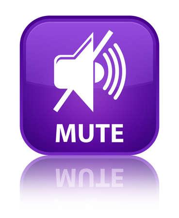 beep: Mute purple square button Stock Photo