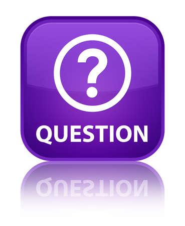 Question purple square button