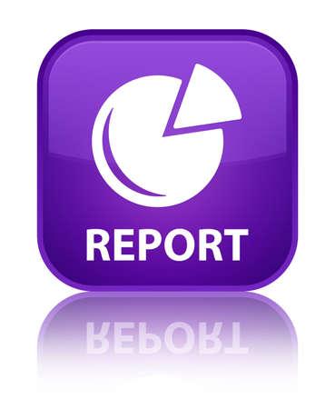 Report (graph icon) purple square button photo
