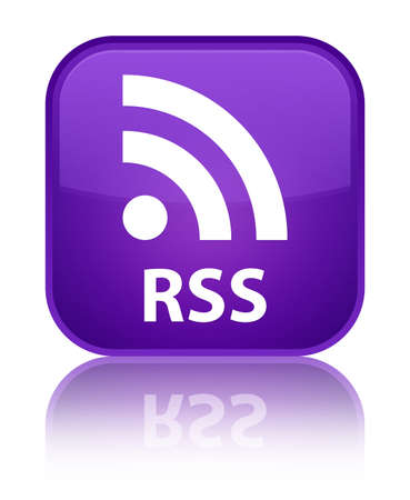 square button: RSS purple square button