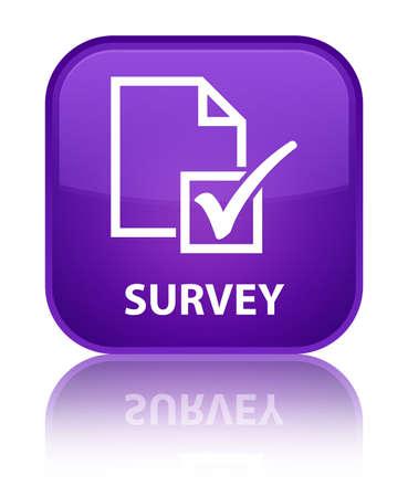 Survey purple square button photo
