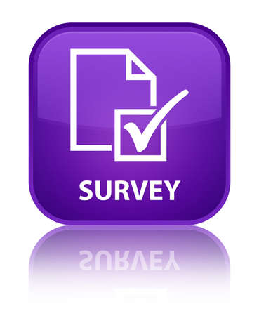 Survey purple square button photo