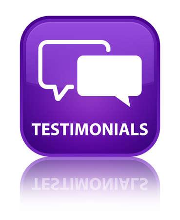 authenticate: Testimonials purple square button
