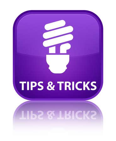 incandescence: Tips and tricks (bulb icon) purple square button