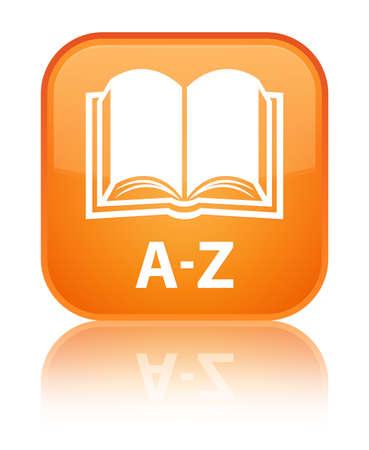 az: A-Z (book icon) orange square button