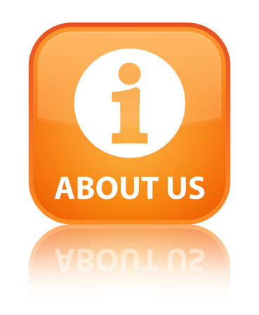 'about us': About us orange square button
