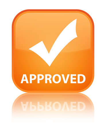 validate: Approved (validate icon) orange square button