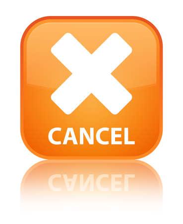 Cancel orange square button