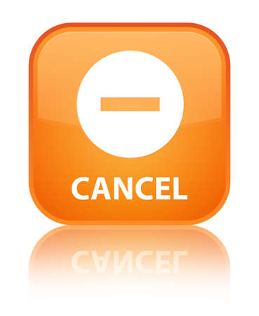 cancel: Cancel orange square button