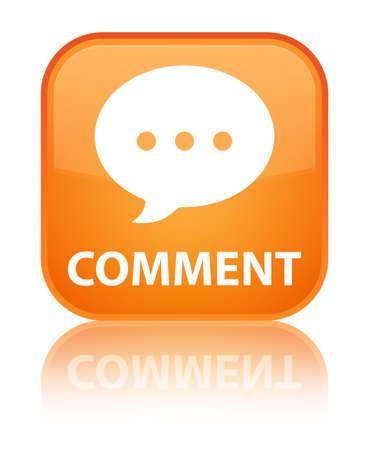 conversation icon: Comment (conversation icon) orange square button