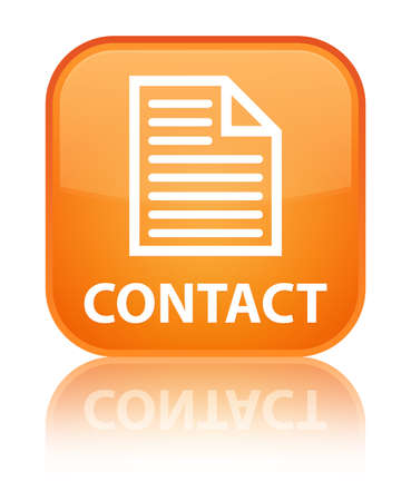 contact page: Contact (page icon) orange square button