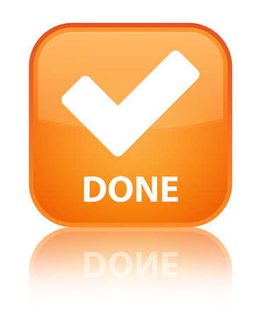 validate: Done (validate icon) orange square button