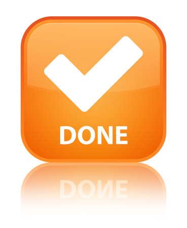 valider: Fait bouton carr� orange (ic�ne valider)