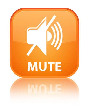 mute: Mute orange square button